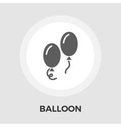 Balloon Flat Icon vector image