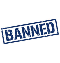 Banned stamp vector