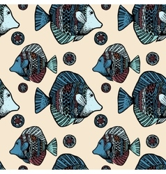 Beautiful graphically ethnic fish vector