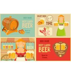 Beer cards set vector