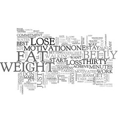 belly fat loss text word cloud concept vector image