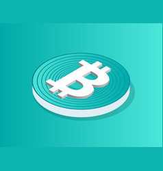 blockchain icon isolated 3d vector image
