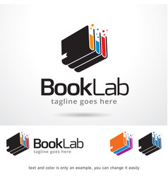 Book lab logo template vector