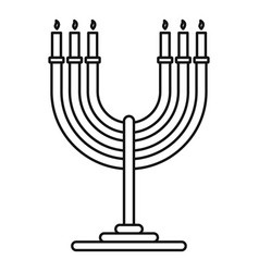 Candles support icon outline style vector