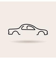 Car logo contour line silhouette icon vector