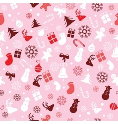 Christmas background seamless tiling great vector image