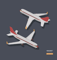 civil aircraft in isometric style vector image