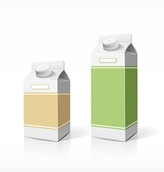 Colorful milk box packaging template vector image