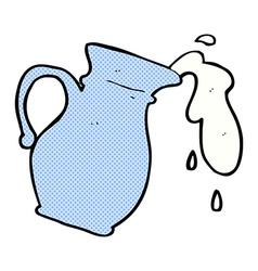 Comic cartoon milk jug vector