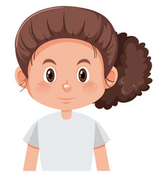 Cute girl with brown hair vector