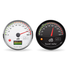 Decibel gauge volume unit glass gauge with vector