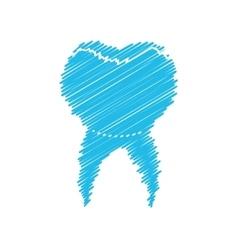 dental healthcare drawing icon vector image