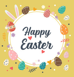 easter eggs happy easter poster vector image