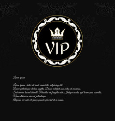 Elegant black invitation card with a texture and vector