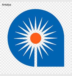 Emblem of antalya vector