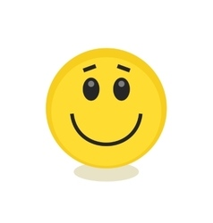Emoticon style smile yellow face icon vector