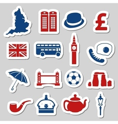 England stickers vector