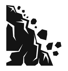 Falling landslide icon simple style vector