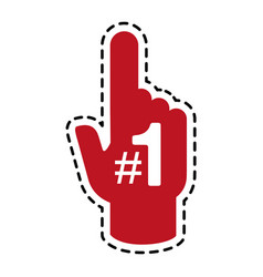 fan foam finger icon image vector image