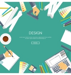 Flat background Web design vector image