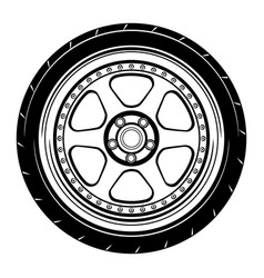 Flat car wheel 18 vector