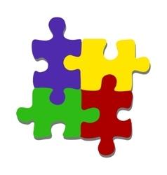Flat minimalistic puzzle pieces vector