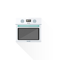 Flat style white kitchen oven vector