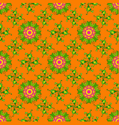 floral pattern flourish ornamental spring garden vector image