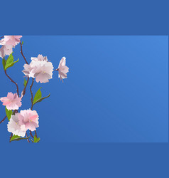 fresh spring flowers background with frame vector image