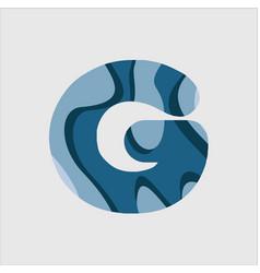 G water font template design vector