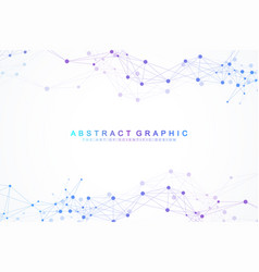 Geometric graphic background artificial vector