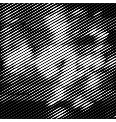 Grunge halftone striped texture background vector image