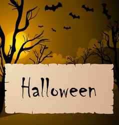 Halloween text frame vector image