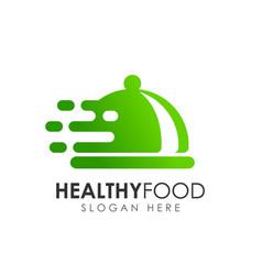healthy food logo design vector image