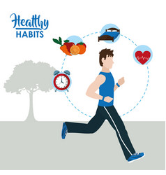 Healthy habits lifestyle vector