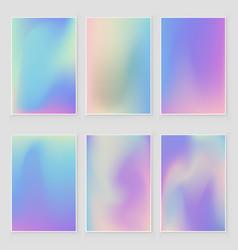 Holographic foil gradient iridescent set vector