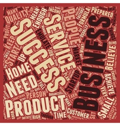 How To Be A Business Success text background vector
