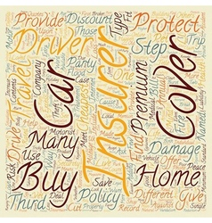 Insurance Explained text background wordcloud vector image