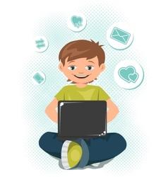 Laptop Teen vector