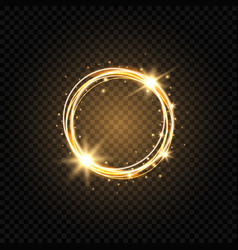 Light golden circle banner abstract light vector