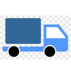 Lorry icon on chess transparent background vector