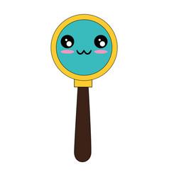Magnifying glass symbol kawaii cartoon vector