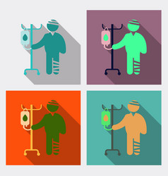 men with different diseases flat style isolated vector image