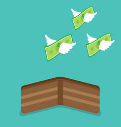 Money flying from wallet vector