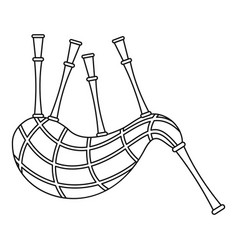 musical bagpipes icon outline style vector image