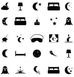 night icon set vector image