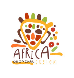 original african ethnic tribal logo vector image