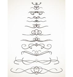 Ornamental calligraphic line vector
