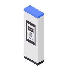 outdoor payment kiosk icon isometric style vector image