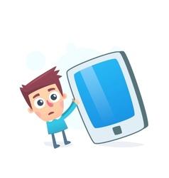 Oversized smartphone vector image